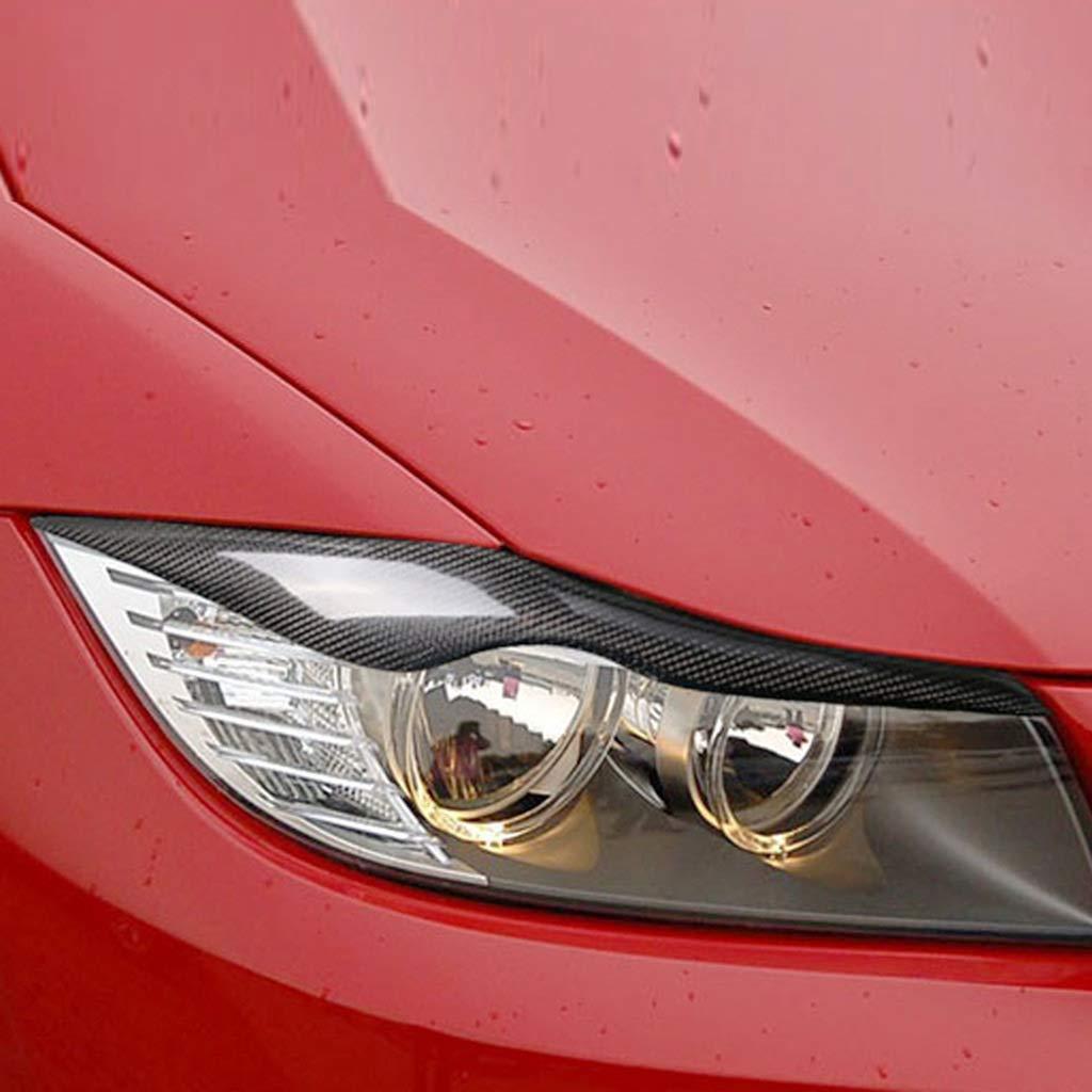 CARBON FIBER CAR STICKERS HOME Lamp Eyebrow Headlights Eyelashes Carbon Fiber Car Interior Accessories Stickers For BMW Old 3 Series E90//318i//320i//325i 2005-2012