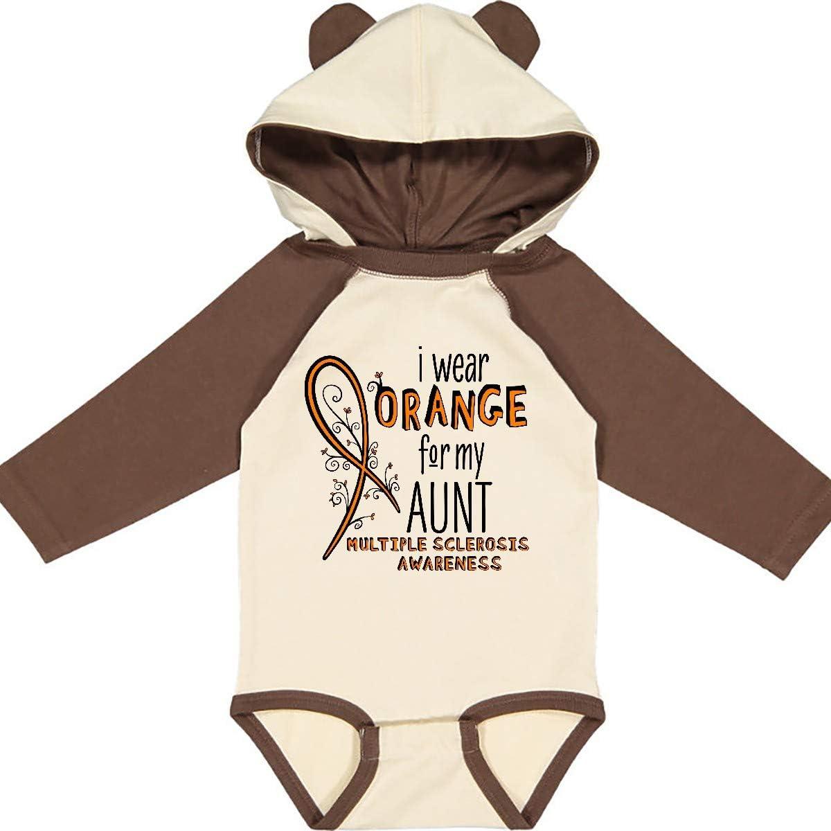 inktastic I Wear Orange for My Aunt Multiple Sclerosis Long Sleeve Creeper