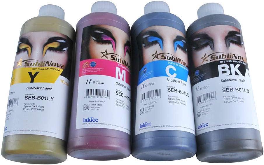 4L CMYK Inktec SubliNova Smart Inkjet Dye Sublimation Ink DTI US Stock