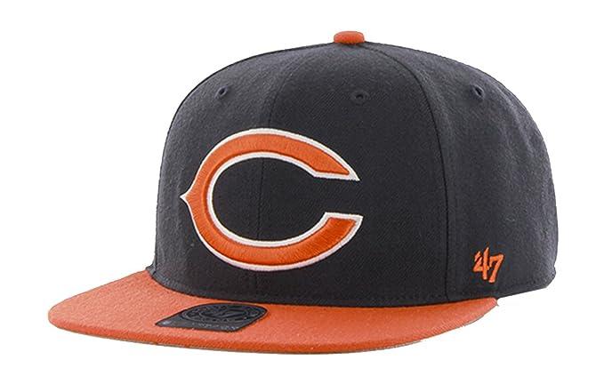 e8e48bd96d55f Amazon.com   47 Brand Super Shot Chicago Bears 2-Tone Strapback Hat    Clothing