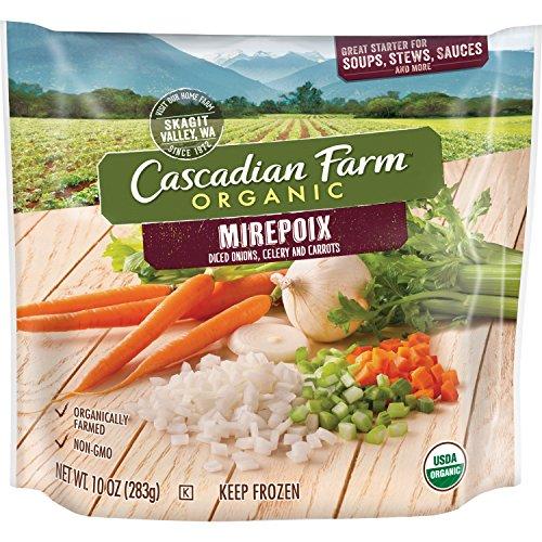 (Cascadian Farm Organic Mirepoix (Onions, Celery, Carrots), 10oz Bag (Frozen), Organically Farmed Frozen Vegetables, Non-GMO )