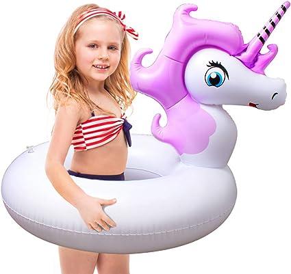 Amazon.com: Flotador inflable para piscina de unicornio ...