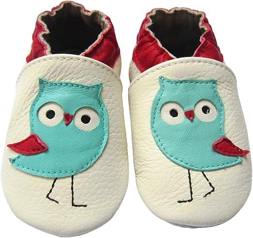 One Pair Toddler Baby Shoes soft newborn Infant First Walker cartoon owl fox cut