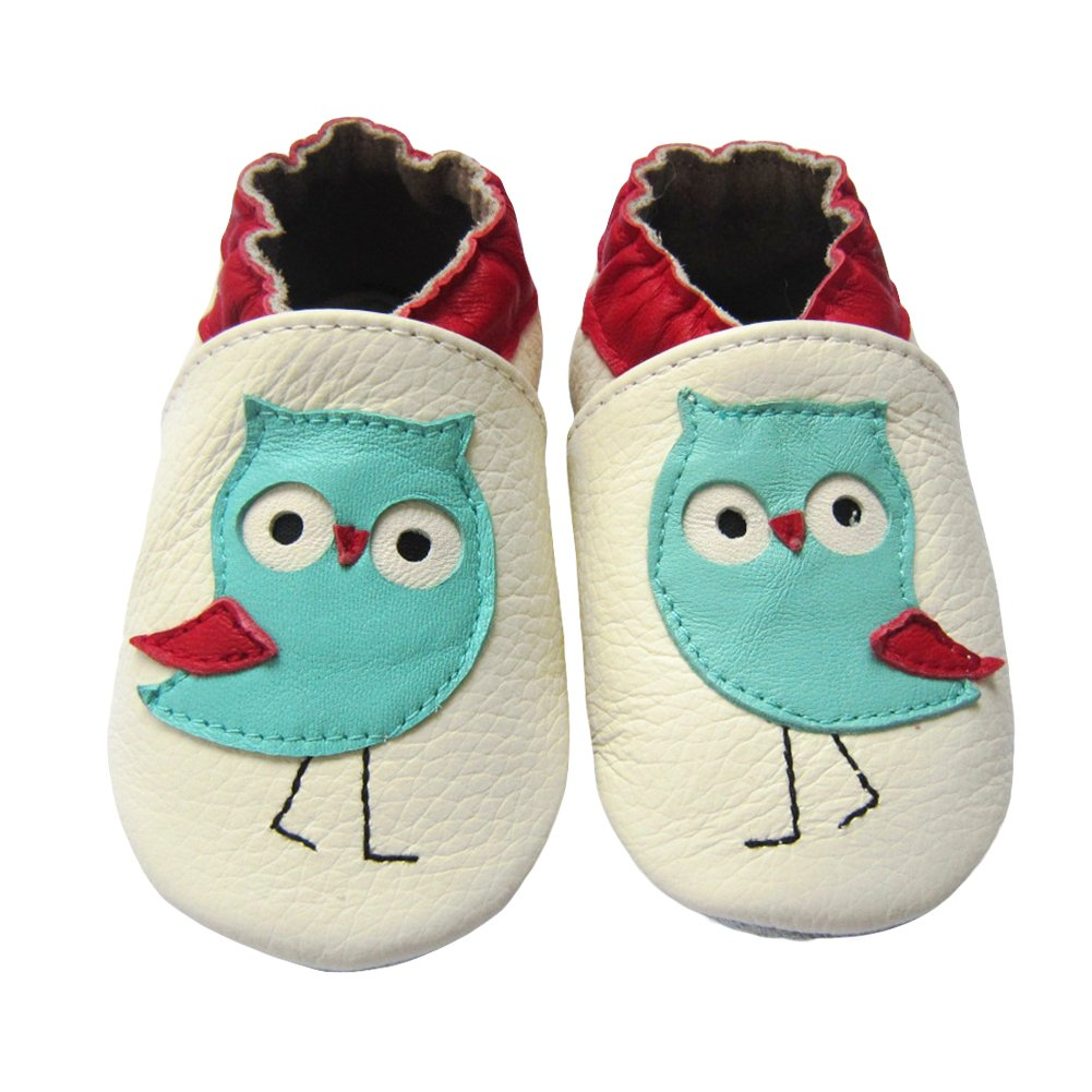 JINZFJG-SX Cute Styles Genuine Leather Baby Boys Soft Shoes Infant Booties Baby Boys Girls First Walker Toddler Shoes