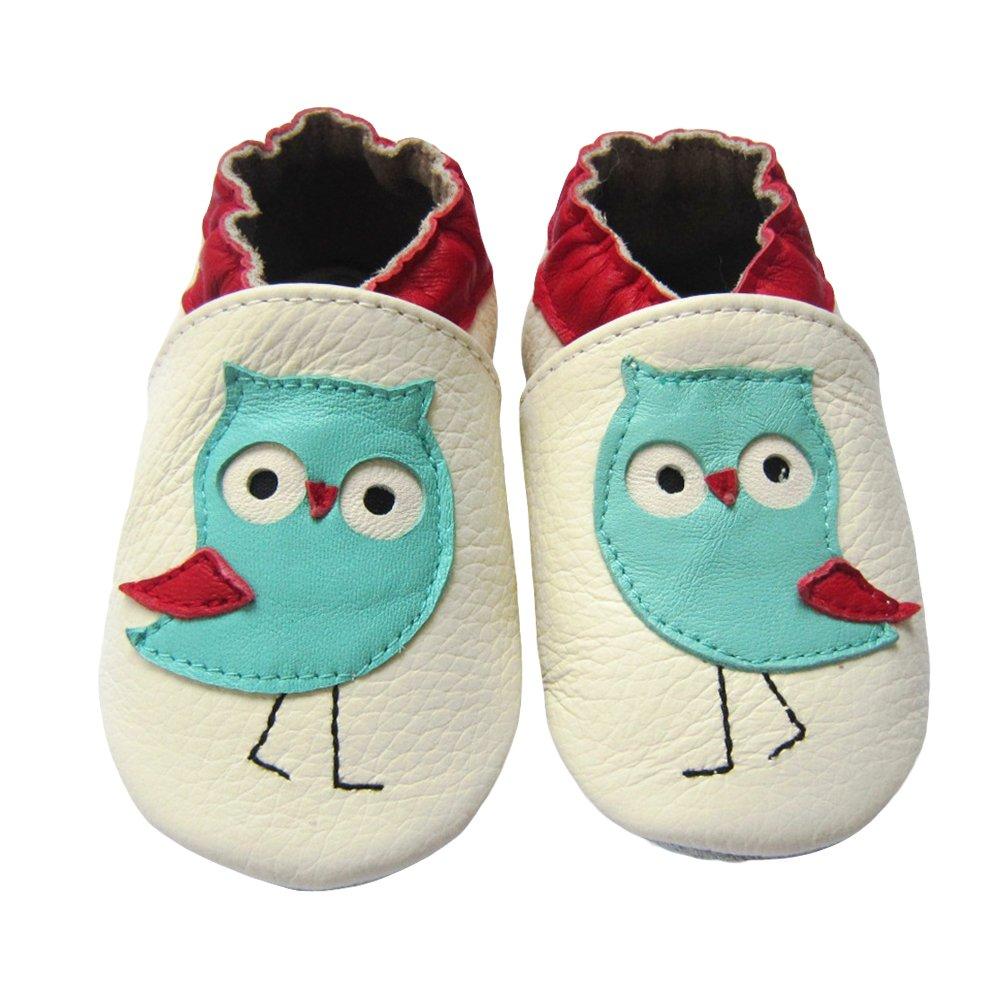 LSERVER- Zapatos de cuero suave para bebés Zapatos de Bebé para Primeros Pasos para Los Niños