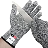 Cut Resistant Gloves, Level 5 Protection, Food Grade. Size X-Large, Safty Gloves for Hand protection and yard-work, Kitchen Glove for Cutting and slicing,1 pair by ANENER (X-Large)