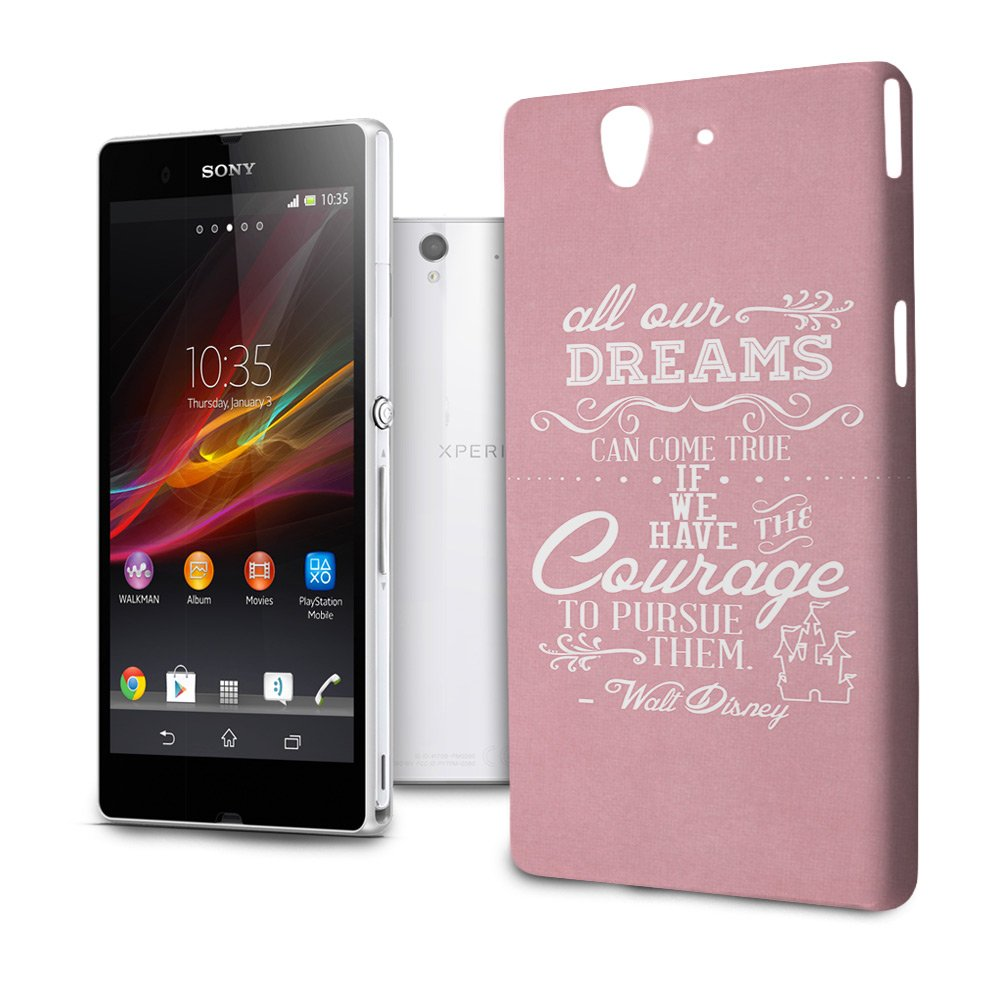 Phone Case For Sony Xperia Z L36H Disney Quote Dreams Can