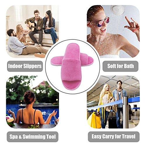 Voyage Spa Hommes Slipper 5 Plupart des Spa Unique Taille de Sacs Hôtel et en Voyage pour avec Party Bout Velours la Invité des des Ouvert Femmes et de Pantoufles Pink à Paires 66rWURnq