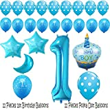 1st Birthday Boy Balloons Set - BONUS - Printable Party Planner and Checklists