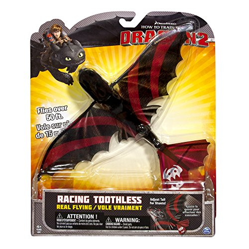 Dreamworks Dragons Tentative - Real Flying NightFury Action Figure