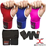 MAx Strength Boxing MMA Muay Gel Padded Thai Kickboxing Liner Knuckle Protector Liners and HandWraps Merino Wool Mitts Fitness Training Protector Gear Youth Inner Gloves Available