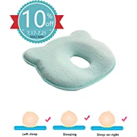 Baby Pillow - Preventing Flat Head Syndrome (Plagiocephaly) for Your Newborn Baby,Made of Memory Foam and Head Neck Support (0-12 Months) 100% Guarantee and Free DELIVE