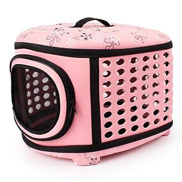 TransportíN Para Animales Bolso De Hombro Portador Viaje ,Bolsa Plegable Bolsa Transporte Capazos Perros Gatos Mascotas , pink: Amazon.es: Deportes y aire ...