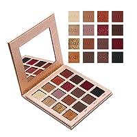 Niome 16 Colors Matte Shimmer Eyeshadow Palette Mineral Glitter Eyeshadow Powder Natural Look