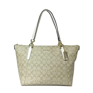 Amazon.com  COACH F58318 AVA TOTE LIGHT KHAKI  Shoes 83e62ec35ccf5