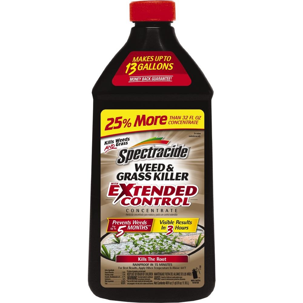 Spectracide Weed & Grass Killer w/Extended Control Concentrate, 40 oz.