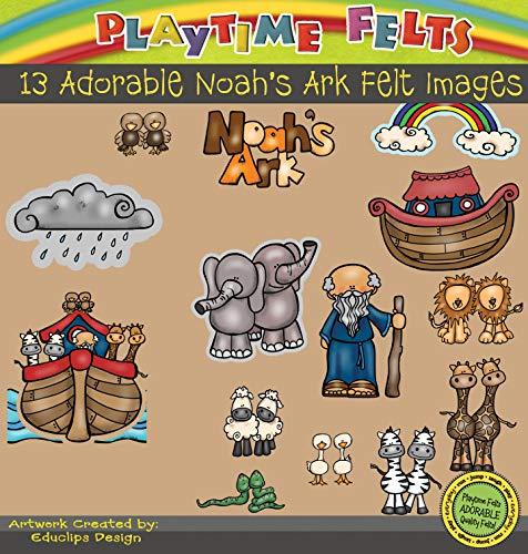 Noah's Ark Felt Figures for Flannel Board Fun