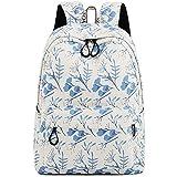School Bookbag for Girls Fashion Cute Laptop Backpack Travel Daypack Shoulder Rucksack Knapsack (White)