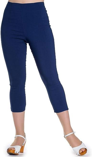 HELL BUNNY 50s TINA CORSAIRE Pantacourt pantalon-corsaire NOIR MARINE ROUGE