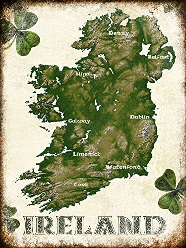 Personalized Ireland Metal Sign, 12