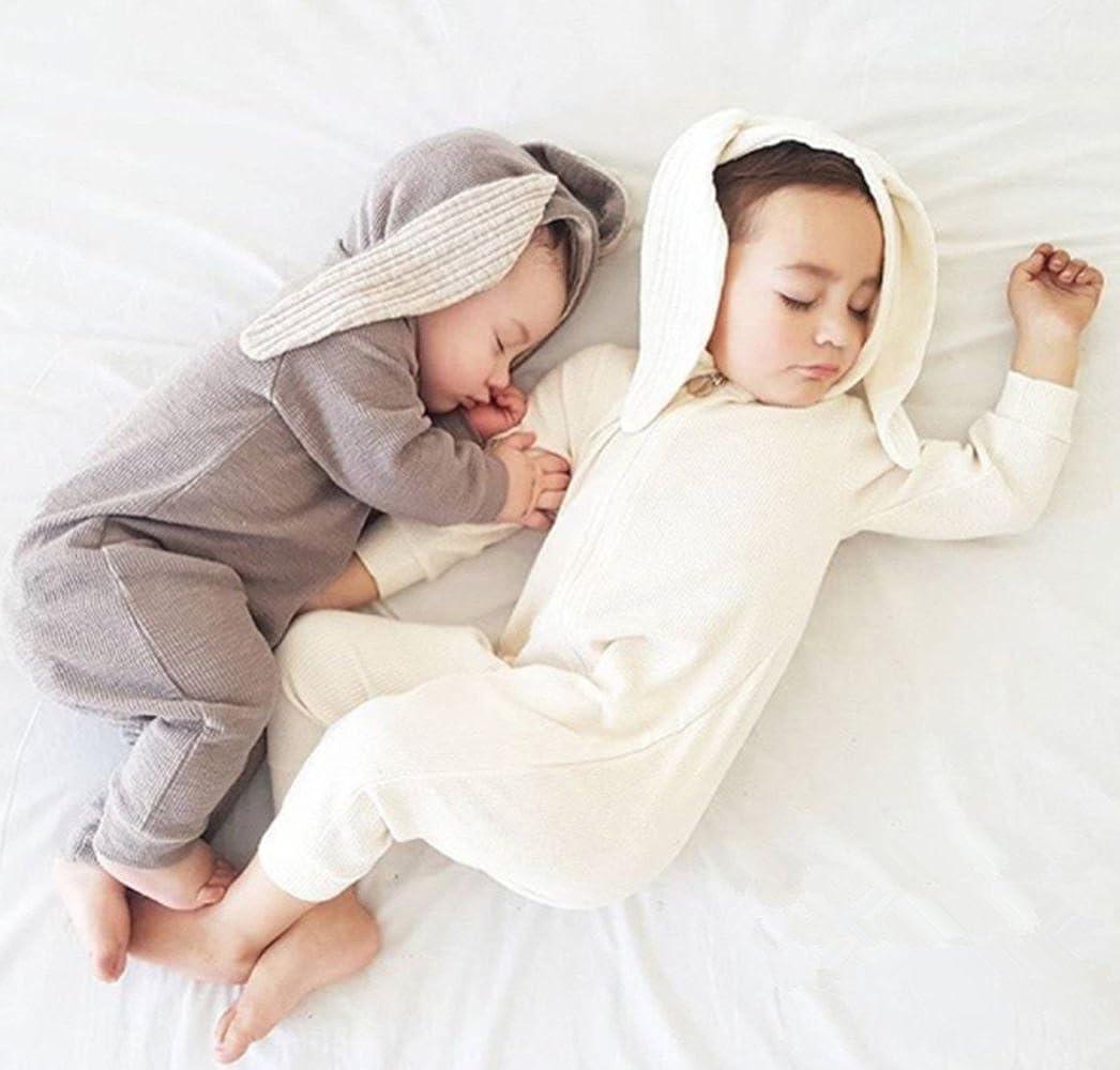 Winter Warm Baby Boys Girls Rabbit 3D Ear Zipper Hooded Romper Jumpsuit Outfits BANGELY Z1035