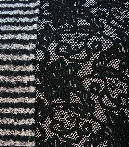 Casamia Túnica Top con encaje y rayas