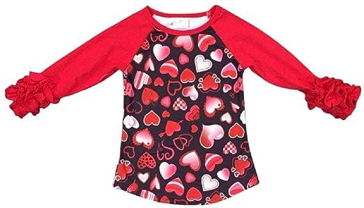Amazon Com Blunight Collection Little Girl Kids Ruffle Raglan