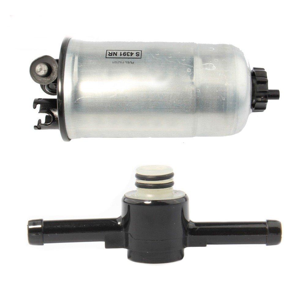 amazon com: amzparts diesel fuel filter &check valve for vw golf jetta mk4  audi a3 a4 a6 1 9tdi 1j0 127 401 a 1j0 127 247 a: automotive