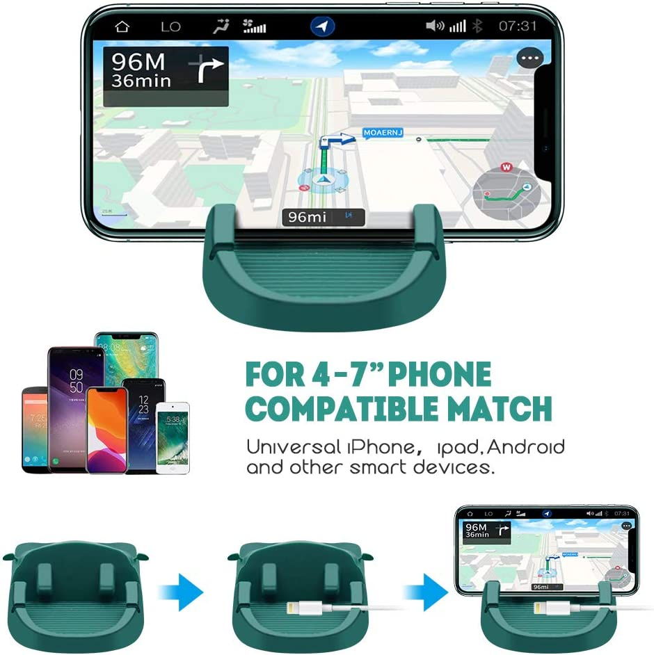 GPS Car Phone Holder Samsung L-MORO Anti-Slip Silicone Dashboard Car Pad Compatible with iPhone KGs3 and More Black Android Smart Phones
