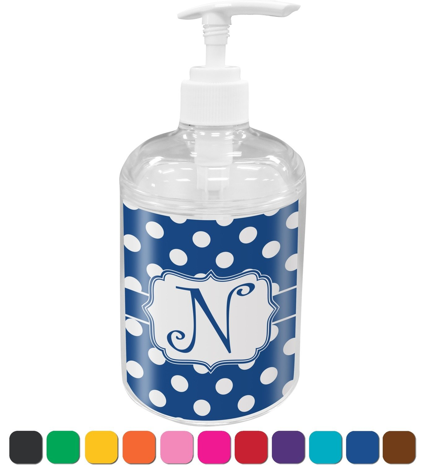 Amazon.com: Polka Dots Bathroom Accessories Set (Personalized): Home ...