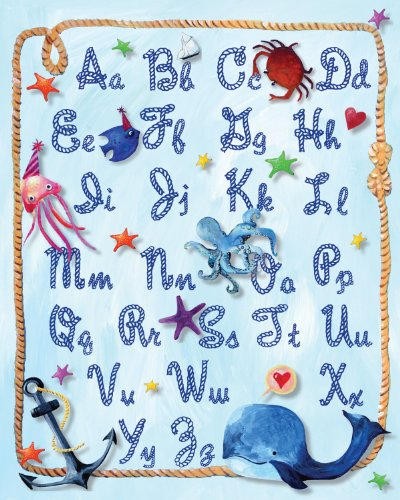 (Cici Art Factory Paper Print Wall Hanging, Alphabet Rope)