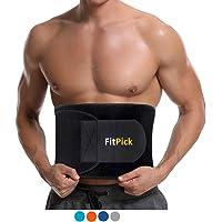 FIT PICK Sweat Slim Belt for Fat Burning   Slimming Belt   Tummy Trimmer Exerciser   Waist Trainer for Men and Women
