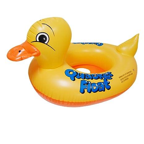 Sourcingmap – ® Bebé Forma De Pato Inflable Flotador de natación de Anillo YLW