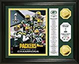 NFL Green Bay Packers Super Bowl XLV Champions 24KT Gold Coin Banner Photo Mint, Gold, 18 '' x 14'' x 3''
