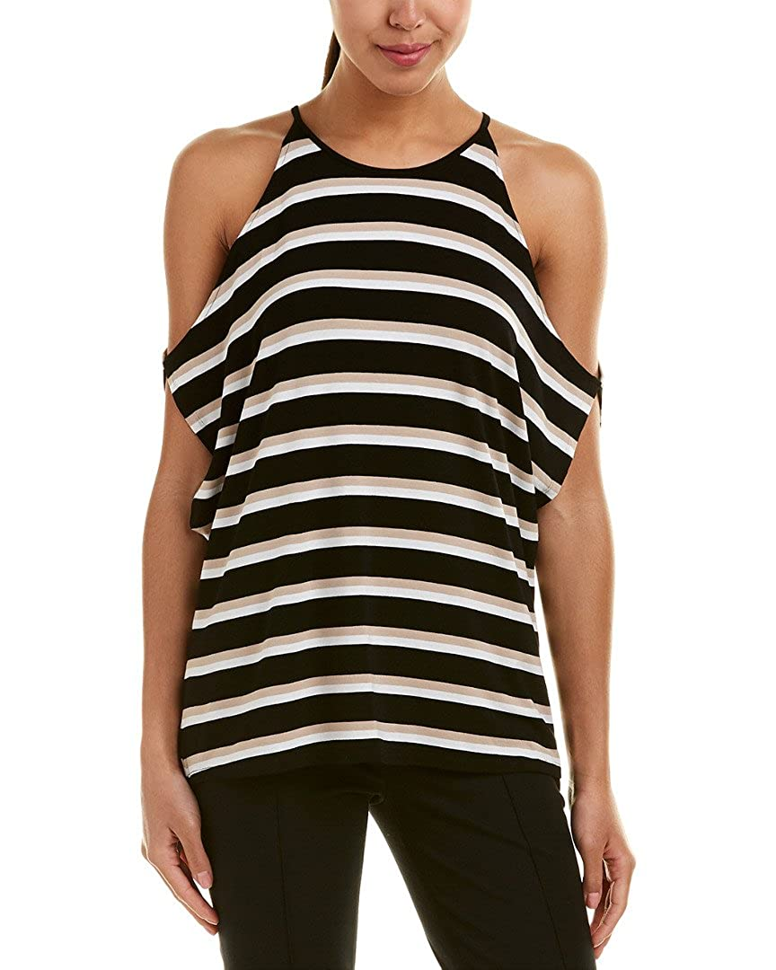 Vince Camuto Womens Striped Cold Shoulder Casual Top 9137644
