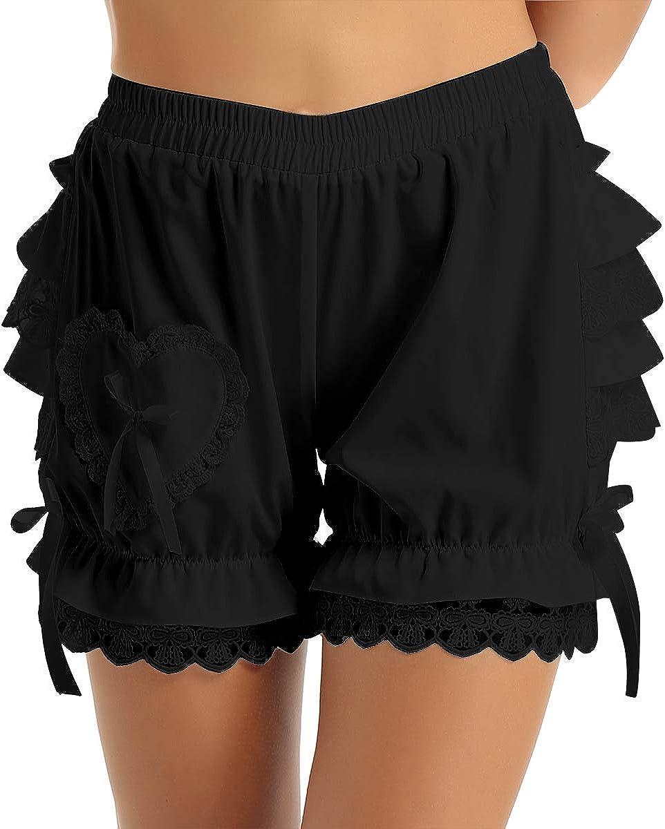 Lady Girl Frilly Lace Ruffle Shorts Knicker Panty Underwear Hot White Black