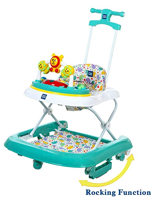 d6c390d6784a Buy Mee Mee Premium 2 in 1 Baby Walker with Rocker, Peacock Green Online at  Low Prices in India - Amazon.in