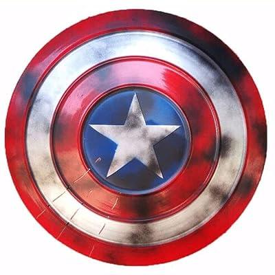 Drg0n Captain America Shield Full Metal Marvel Handheld Props Creative Toy Props Captain America Red: Juguetes y juegos