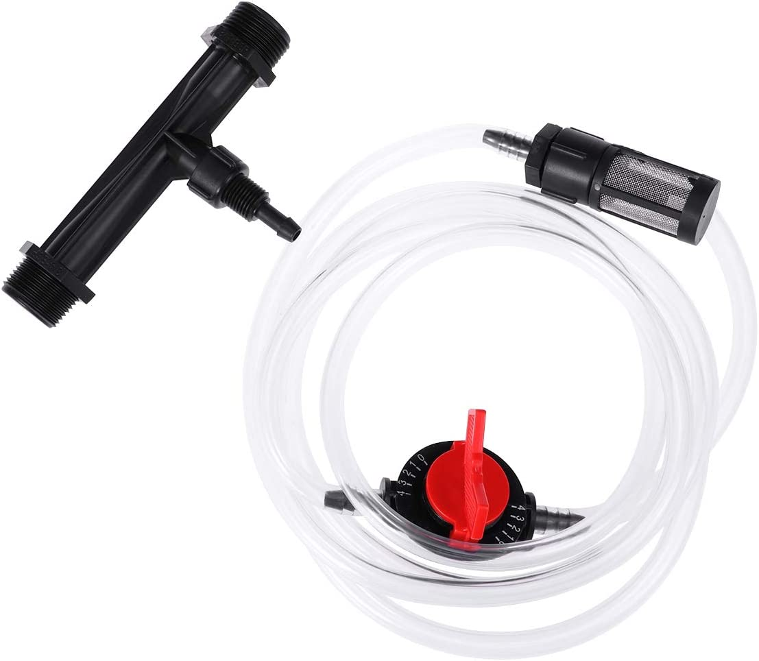 Yardwe 3/4 Inch Fertilizer Injector for Drip Irrigation Venturi Fertilizer Mixer Injectors Device Tube Switch Filter