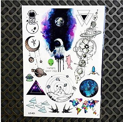 ruofengpuzi Adesivo tatuaggioGalaxia Universo Tatuaje Temporal ...