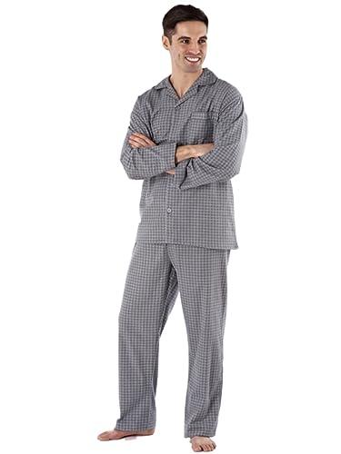 Camisón de invierno para hombre Diamond Spot, 100 % algodón cepillado y franela, tallas M a XXL: Amazon.es: Ropa y accesorios