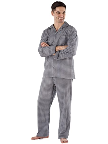 Camisón de invierno para hombre Diamond Spot, 100 % algodón cepillado y franela, tallas