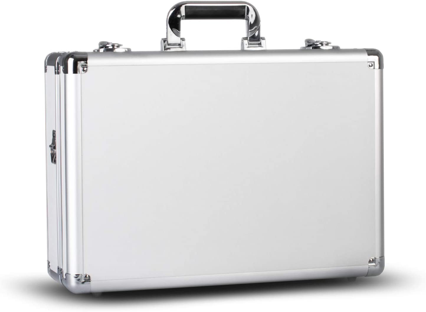 Zeikos Deluxe Medium Hard Shell Case with Extra Padding Foam for Cameras - Travel, and Storage Case Gear, Equipment, and Lenses - Canon, Nikon, and Many More DSLR Cameras – White