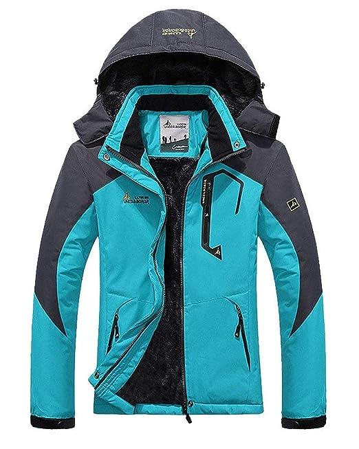 Mujer Chaqueta Esqui Otoño Invierno Fashion Ocasional Wandern Camping Joven Outdoor Jacket Impermeable con Cremallera Manga Larga A Prueba De Viento ...