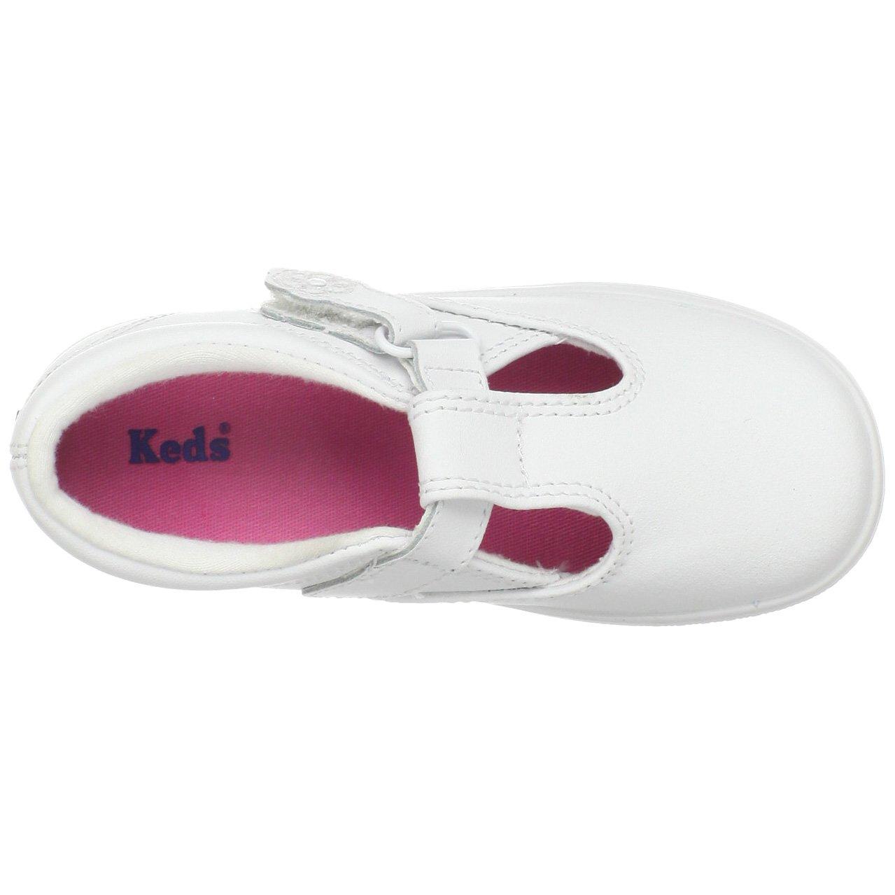 Keds Daphne T-Strap Sneaker (Toddler/Little Kid), White, 12 M US Little Kid by Keds (Image #7)