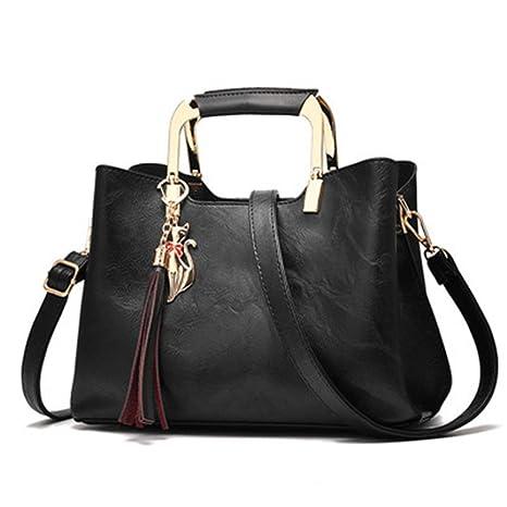 c224a06b71bc Women Vintage Leather Handbags Shoulder Bag Women Tassel Tote Bag Female  Leather Ladies Hand Bag Crossbody
