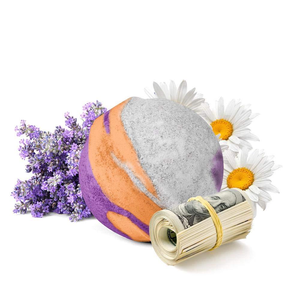 Cash Money Bath Bombs   Jumbo Size 7.5oz   $2-$2500 Inside   Guaranteed Rare $2 Bill   Large Mystery Surprise Gift   (Lavender and Chamomile)