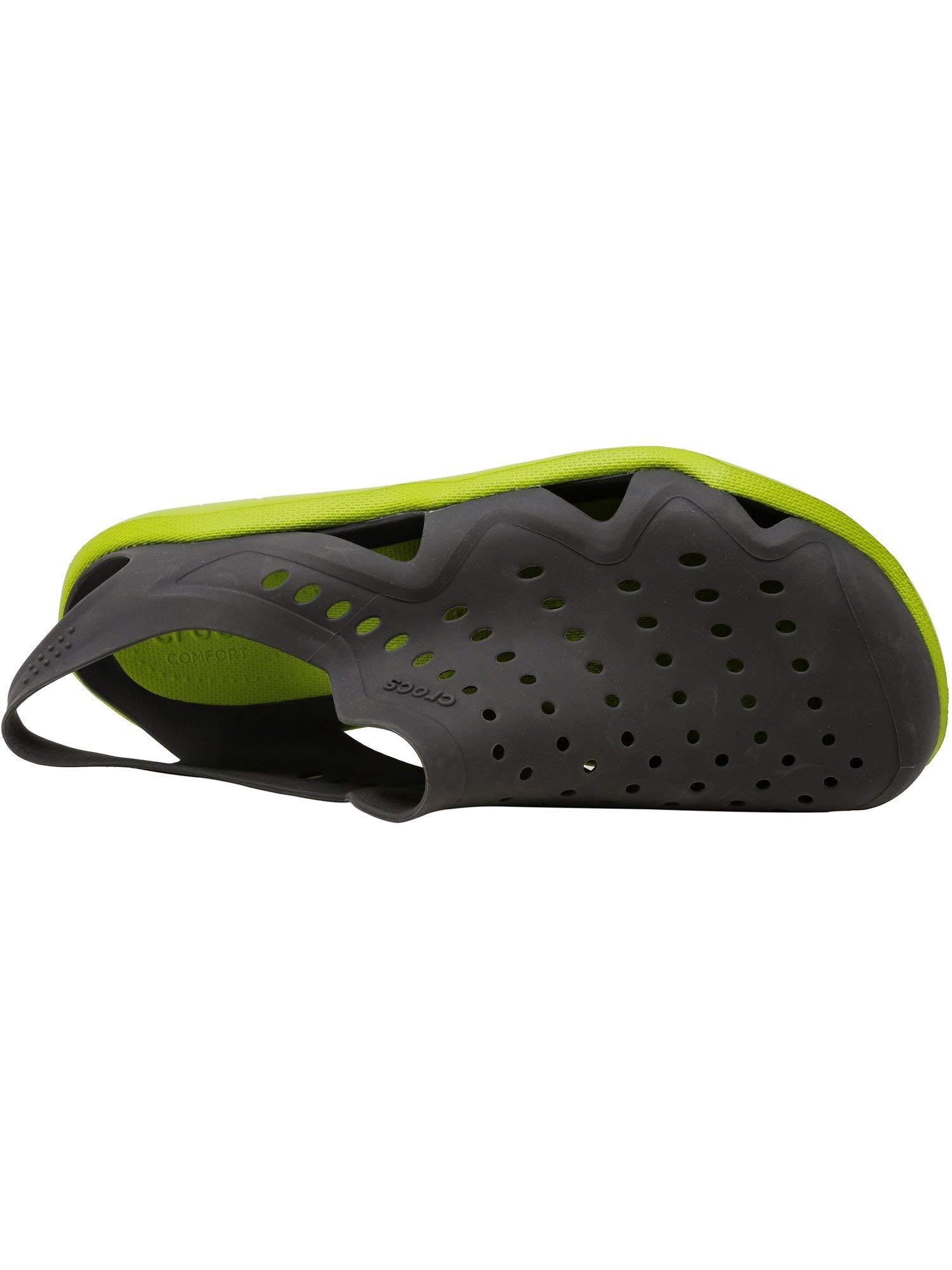 Crocs Men's Swiftwater Wave Graphite/Volt Green Ankle-High Rubber Sandal - 4M by Crocs (Image #5)