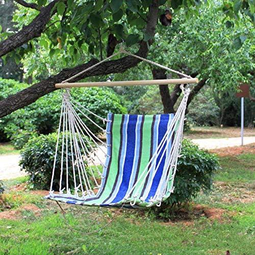 XXL Sillon Terraza with Palo De Madera, 100x130cm (Capacidad de Carga 200 Kg) Verde Columpio De Jardin para Niños Adultos: Amazon.es: Jardín