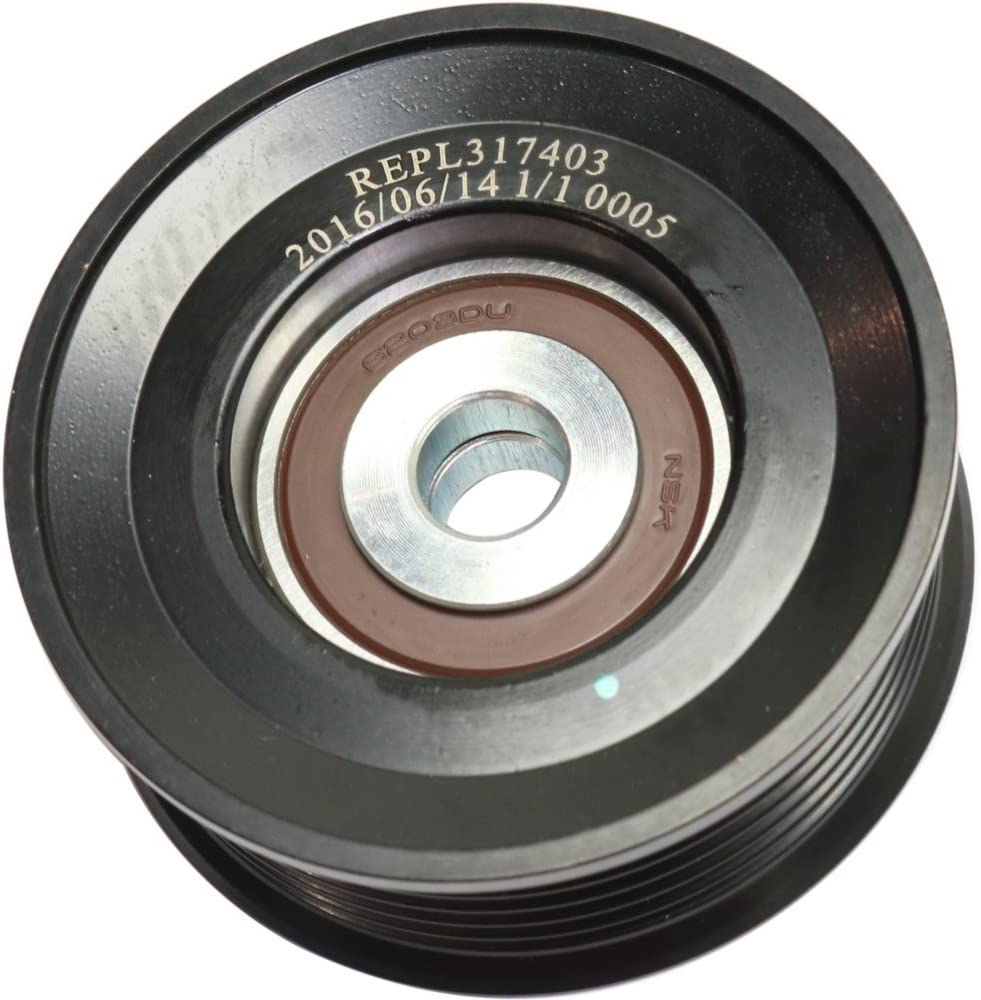 Accessory Belt Idler Pulley Compatible with Lexus LX470 Toyota Land Cruiser 98-07 SC430 02-10 Grooved Pulley